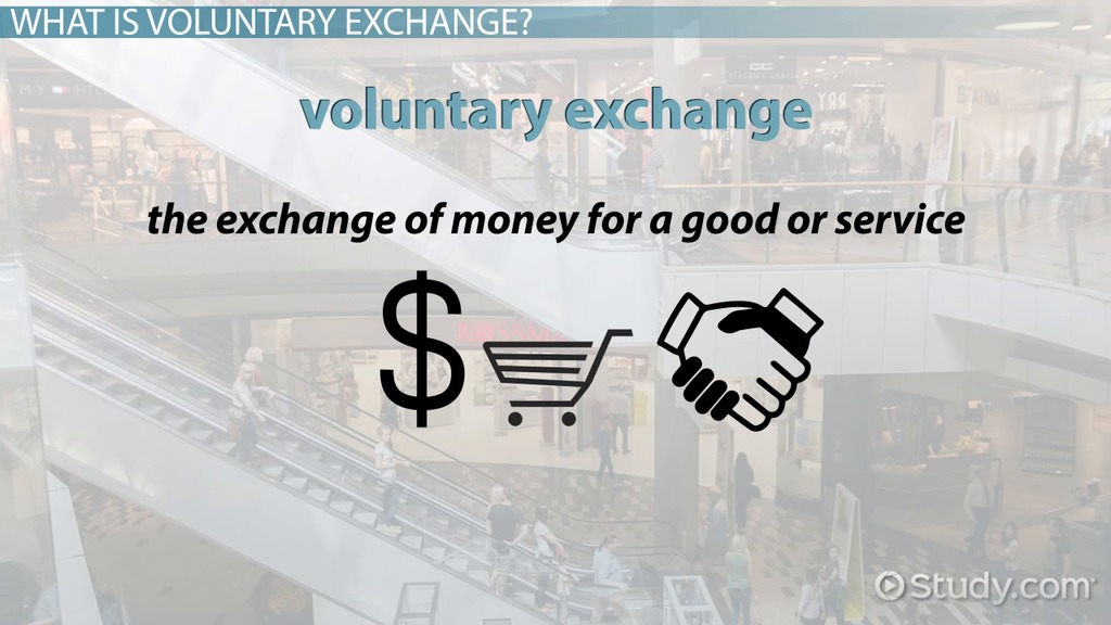 voluntary exchange  definition  principle  model