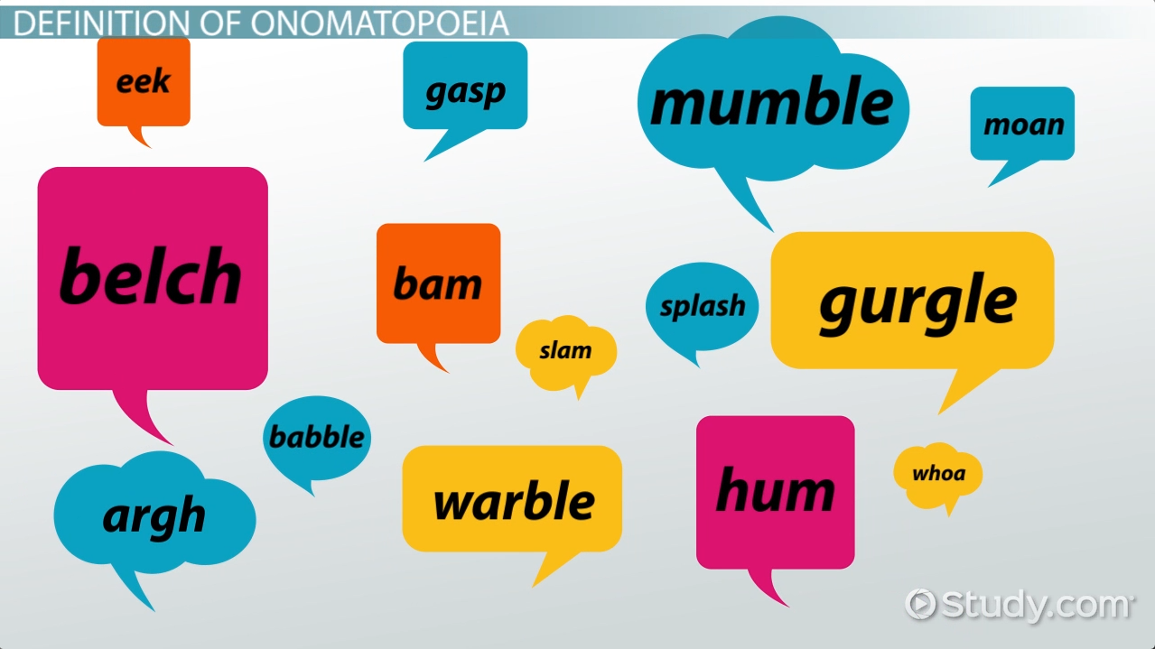 Onomatopoeia in Literature: Definition & Examples - Video & Lesson ...