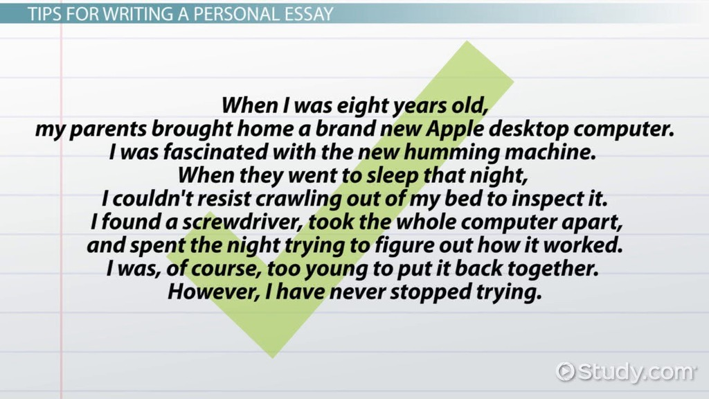 Personal Essay: Definition, Format & Examples - Video & Lesson ...