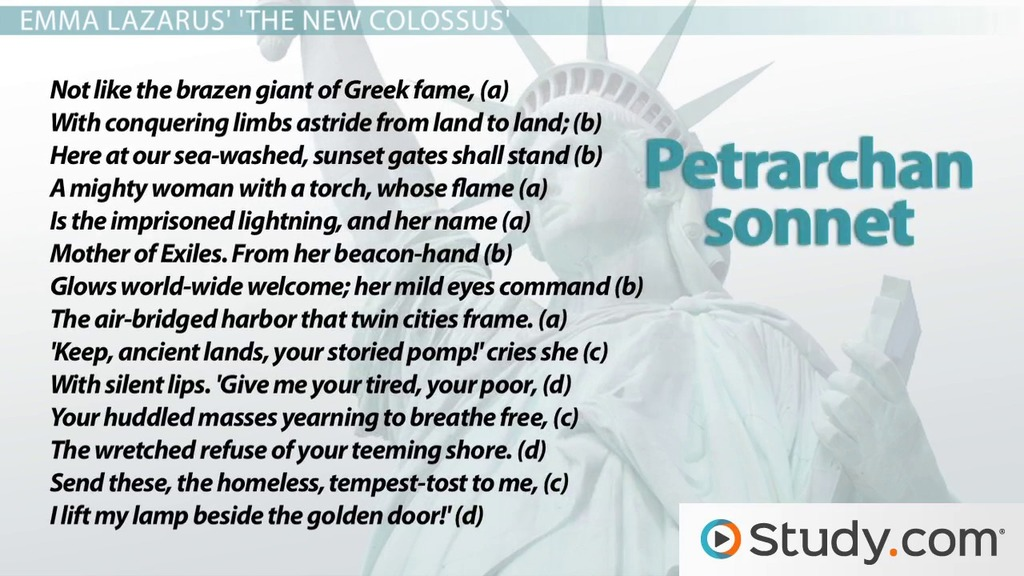 Petrarchan Sonnet Rhyme Scheme Format Example Poems Video