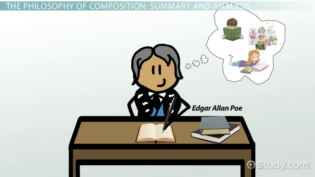a literary analysis of the philosophy of composition by edgar allan poe —edgar allan poe in the philosophy of composition, graham's magazine,  april  —from californian literature by arthur inkersley (1897) on the website of  the  stances as they analyze how bierce and poe utilize narration in two stories.