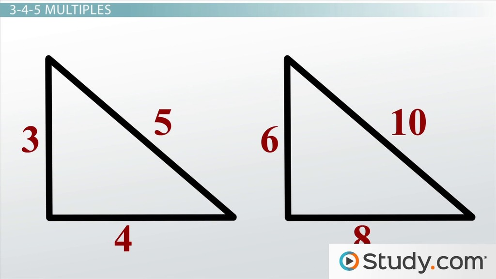 Properties of 3-4-5 Triangles: Definition and Uses - Video ...