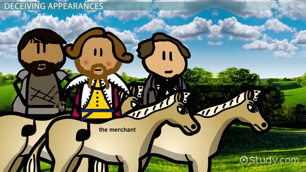 merchant   canterbury tales character analysis description video lesson