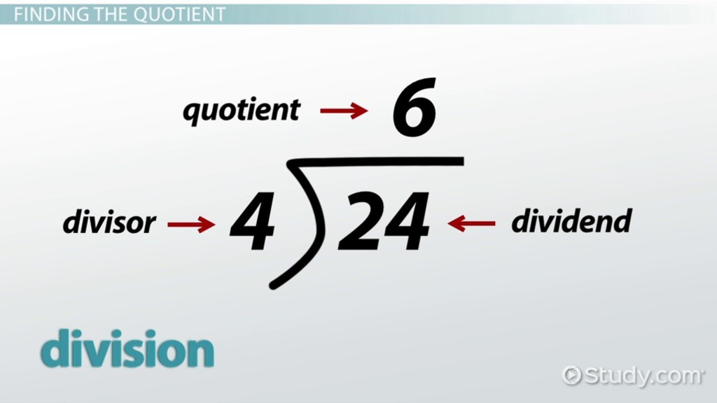 Quotient Definition Meaning Video Lesson Transcript Study