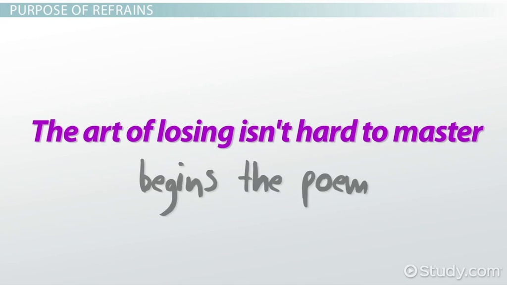Refrain In Poetry Definition Examples Video Lesson Transcript