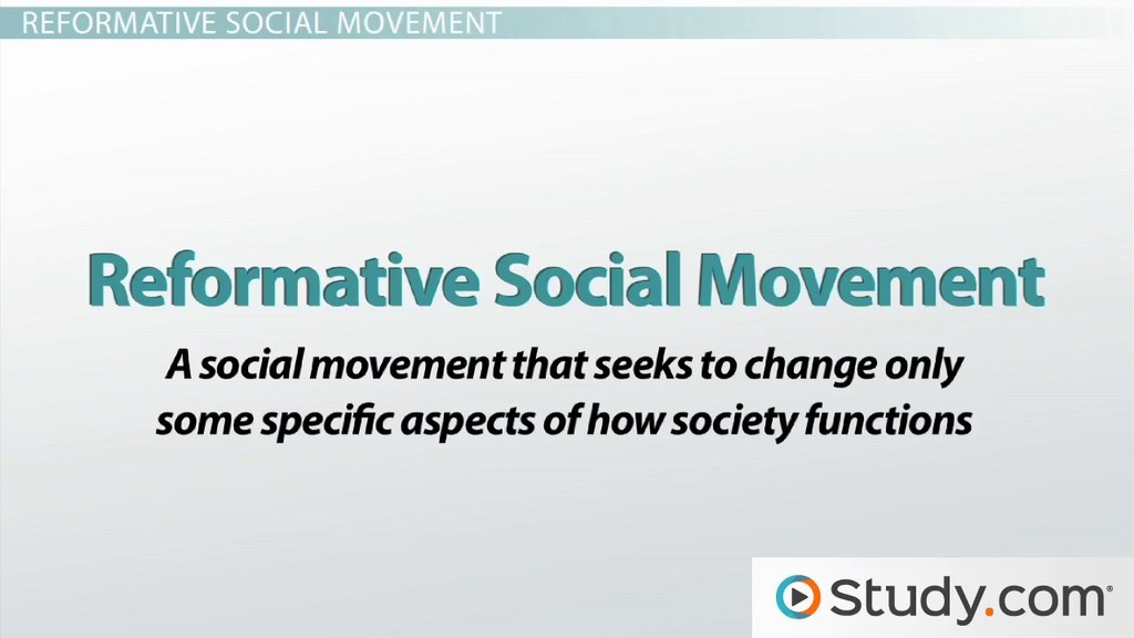 Social Movement Definitions Alternative Redemptive Reformative