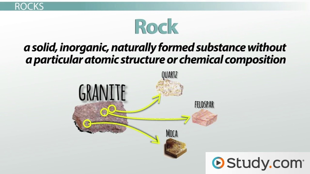 Rocks And Minerals Definitions And Differences Video Lesson