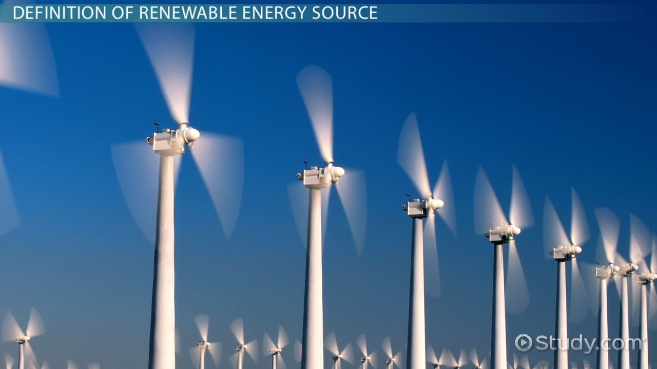 What Is a Renewable Energy Source? - Definition & Example - Video ...