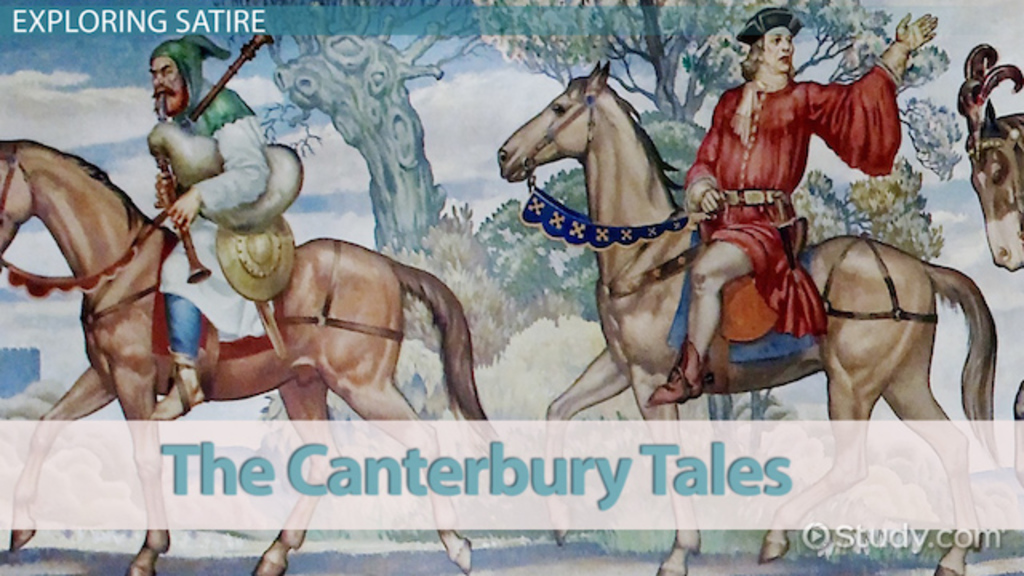 canterbury stories squire satire essay