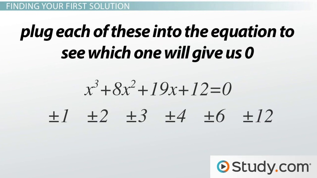 Solving Cubic Equations With Integers Video Lesson Transcript