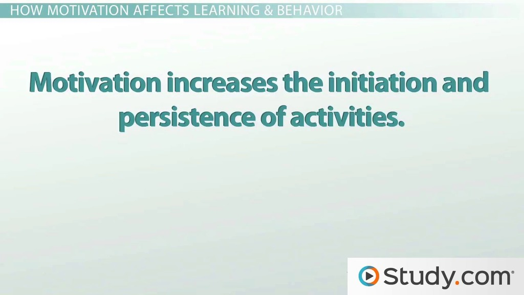 the importance of motivation in an educational environment video lesson transcript studycom
