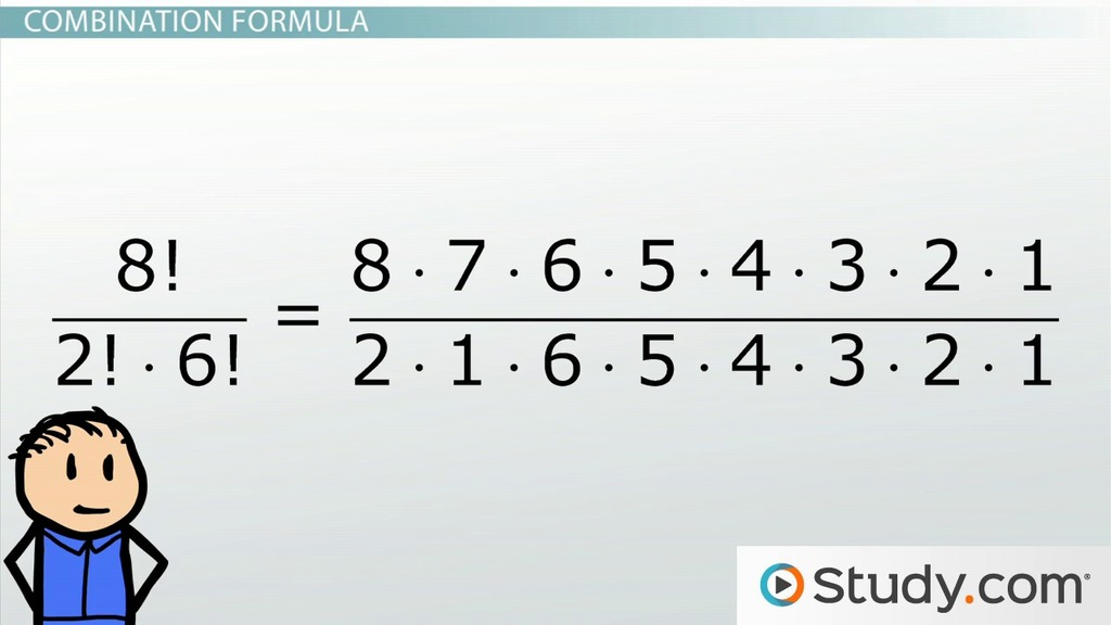 Math Combinations: Formula and Example Problems - Video & Lesson ...