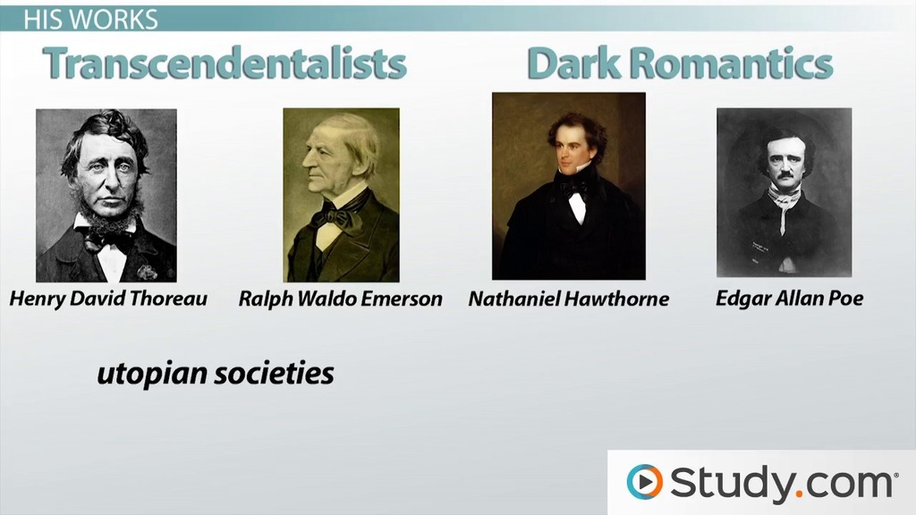 Compare Transcendentalists and Dark Romantics.?