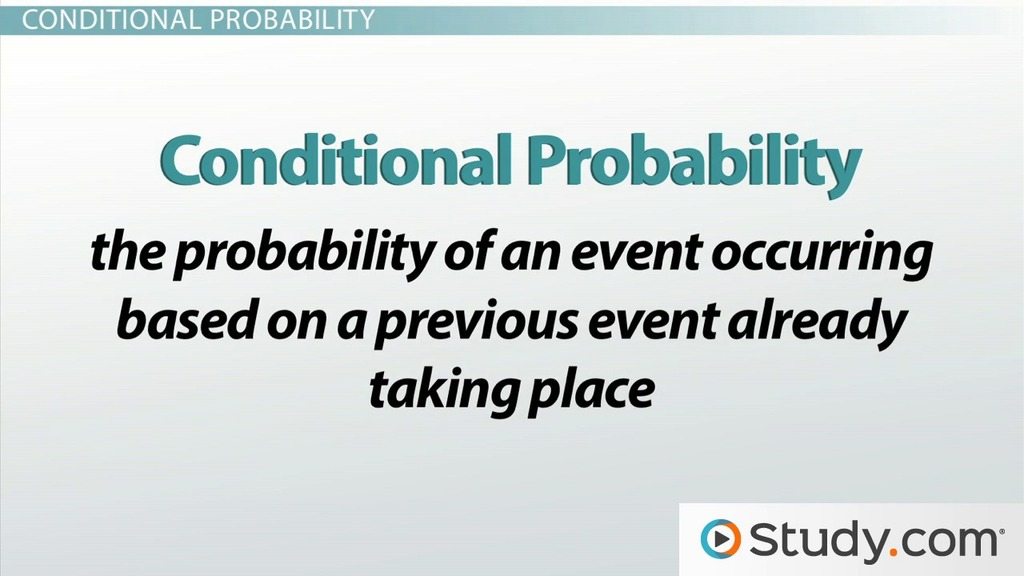 How To Calculate Simple Conditional Probabilities Video Lesson