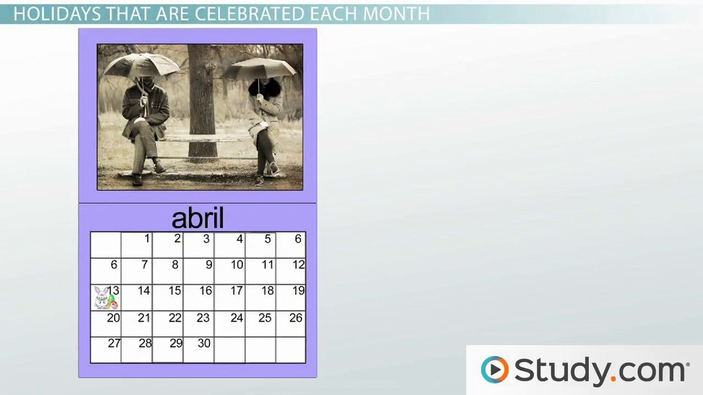 What Are The Months In Spanish Video Lesson Transcript Study