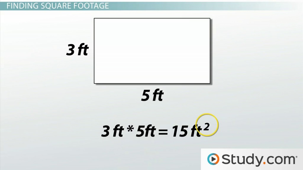 Measuring the Area of a Rectangle: Formula & Examples - Video ...