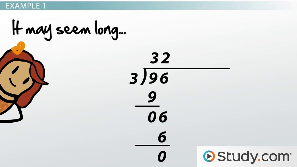 Performing Long Division With Large Numbers Steps And Exles. Performing Long Division With Large Numbers Steps And Exles Video Lesson Transcript Study. Worksheet. Long Hand Division Worksheet At Mspartners.co