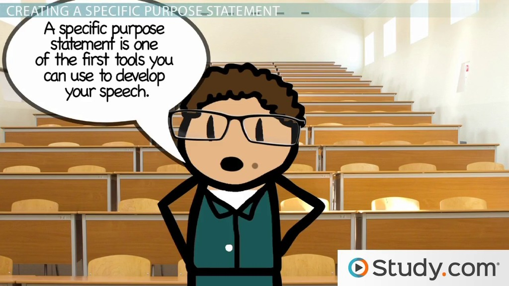 general purpose vs  specific purpose of a speech