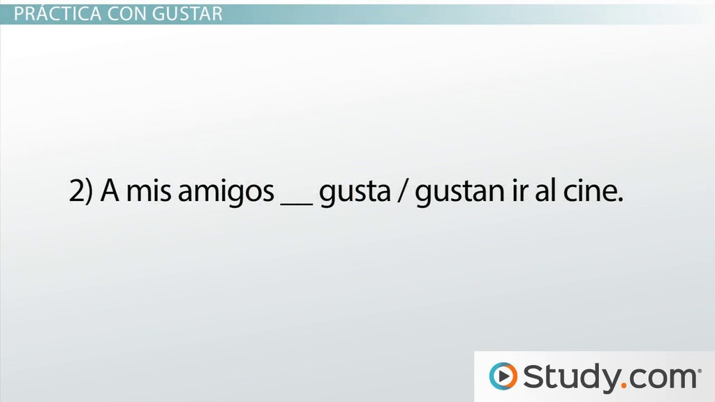 verbs like gustar worksheet - Learn 24/7 - Image Results | Spanish ...