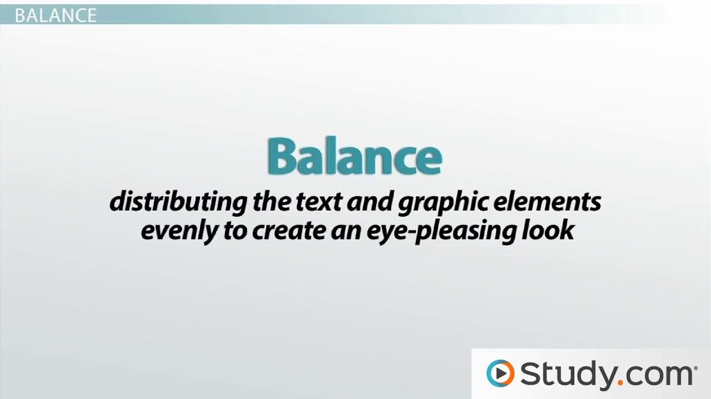 visual design of your message consistency balance restraint detail video lesson transcript studycom