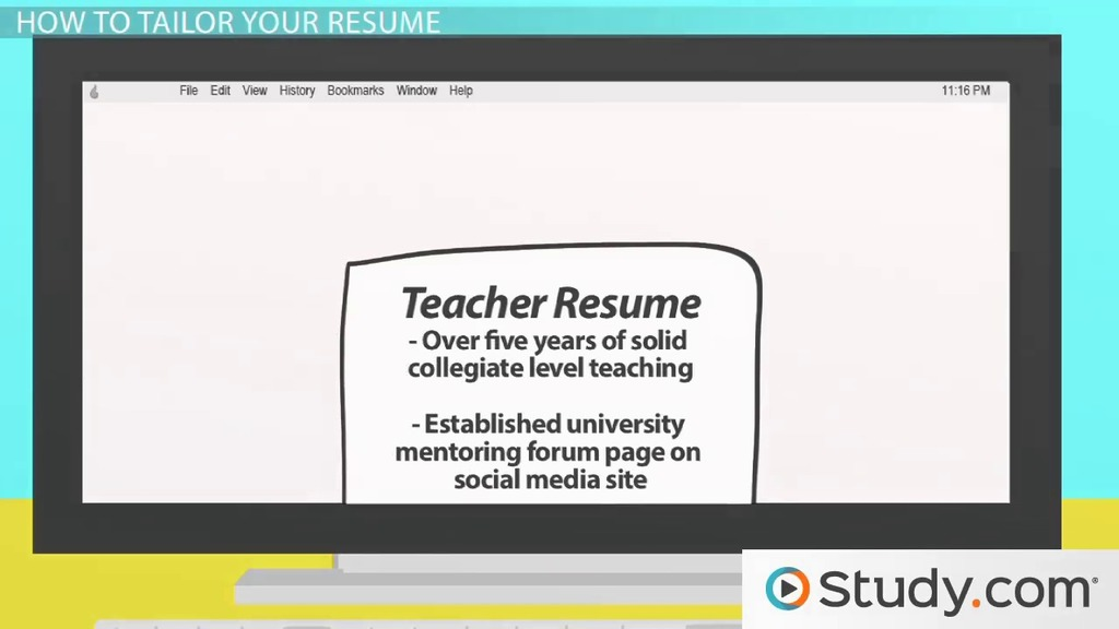 Tailoring The Content Of Your Resume For A Job   Video U0026 Lesson Transcript  | Study.com  Tailor Your Resume