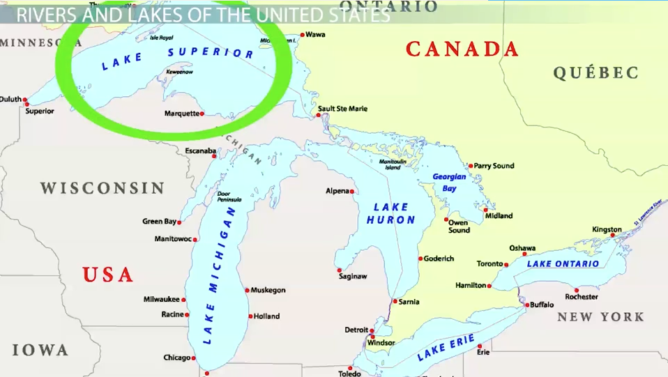 Major Landforms In The United States Video Lesson Transcript - Bodies of water in us map