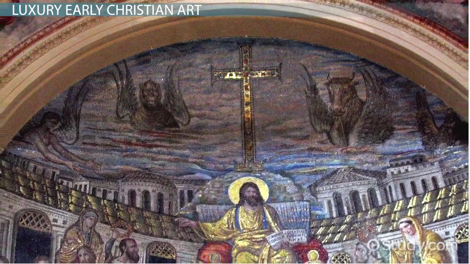transition from minor to luxury arts in christian art