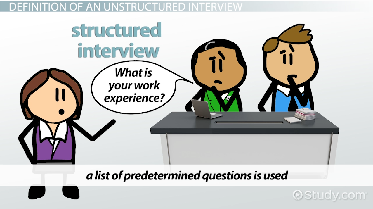 structured interview definition process example video unstructured interview definition advantages disadvantages example
