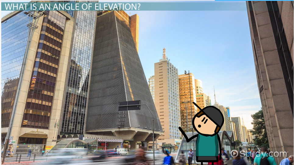 Angle Of Elevation Lesson Plan : Angle of elevation definition formula examples video