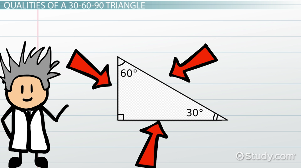 how to find hypotenuse of 30 60 90 triangle