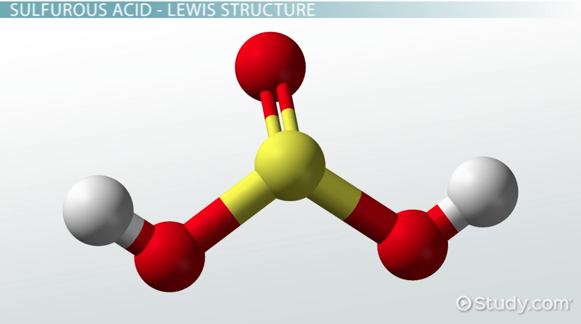 h2so3  definition  u0026 lewis structure