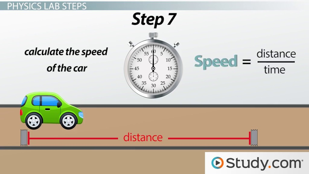 Measuring the Speed of an Object: Physics Lab - Video & Lesson ...