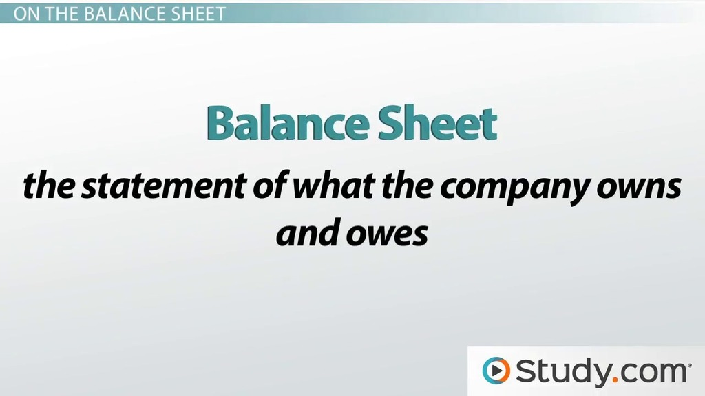 Reporting Depreciation On The Balance Sheet  Video  Lesson