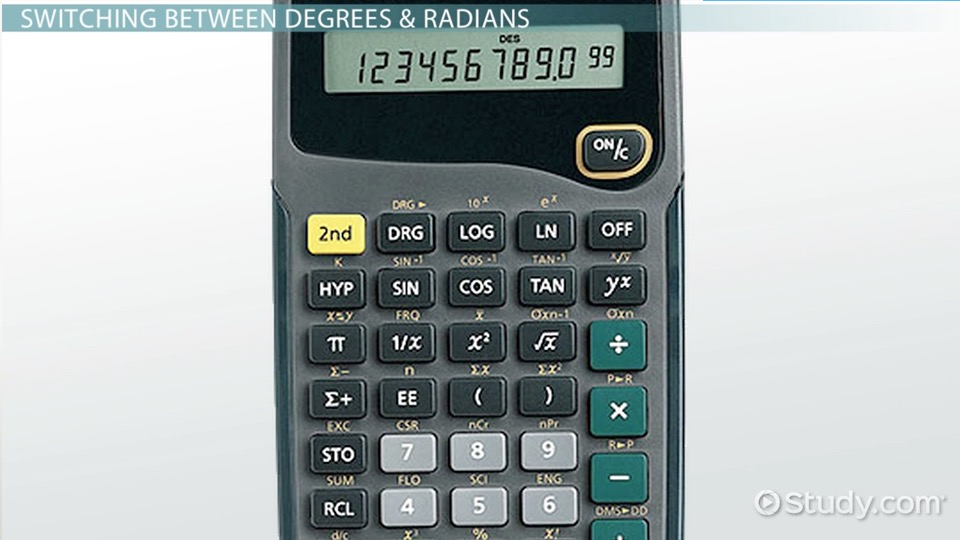 Radians & Degrees on a Calculator - Video & Lesson Transcript ...