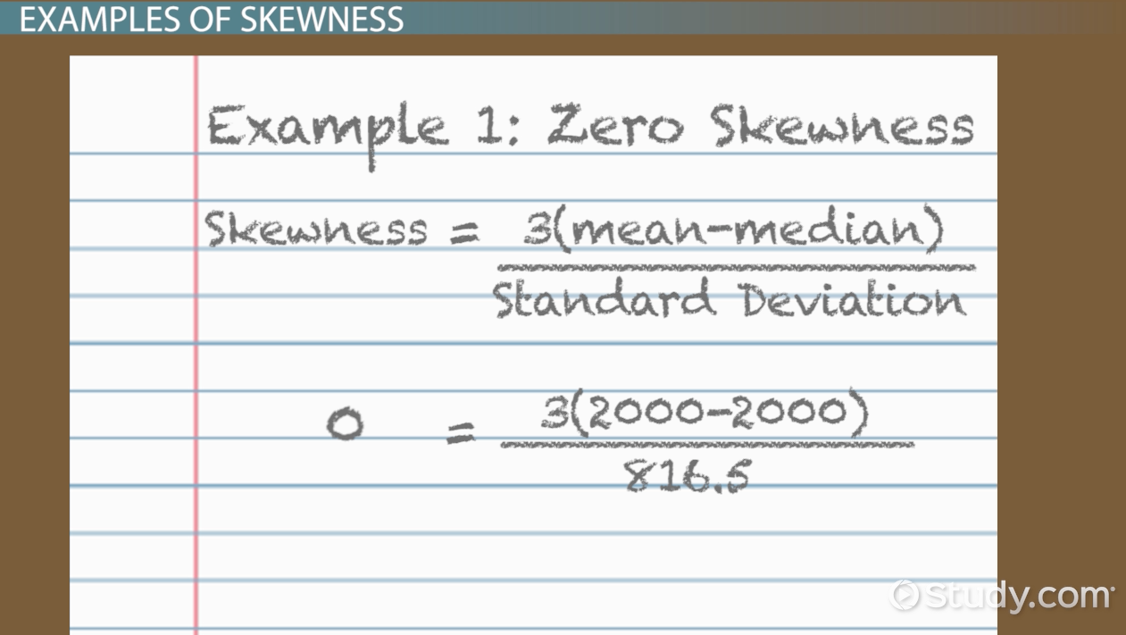 Skewness In Statistics: Definition, Formula & Example  Video & Lesson  Transcript  Study