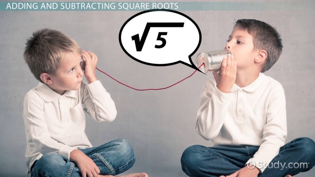 Negative Square Root Definition and Overview Video and Lesson – Subtracting Real Numbers Worksheet