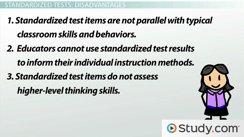 end standardized tests While each state's implementation and use of standardized tests has its critics, most educational experts agree that testing is a measure of how well students comprehend and apply knowledge they also agree that high standards are a worthy goal.