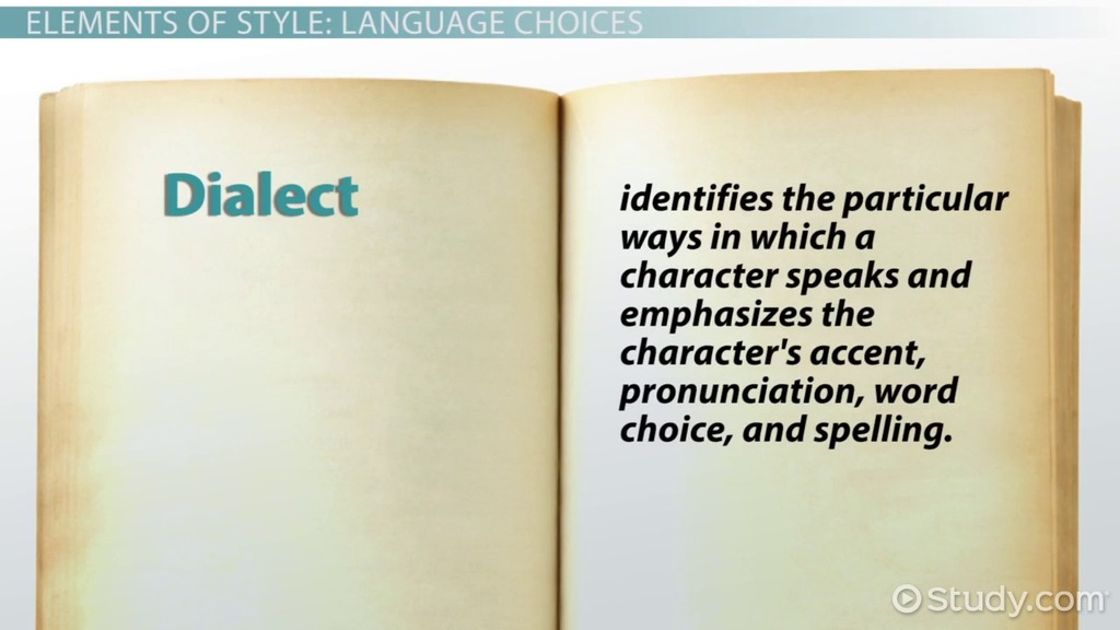 Style in Fiction: Dialect & Figures of Speech - Video & Lesson ...