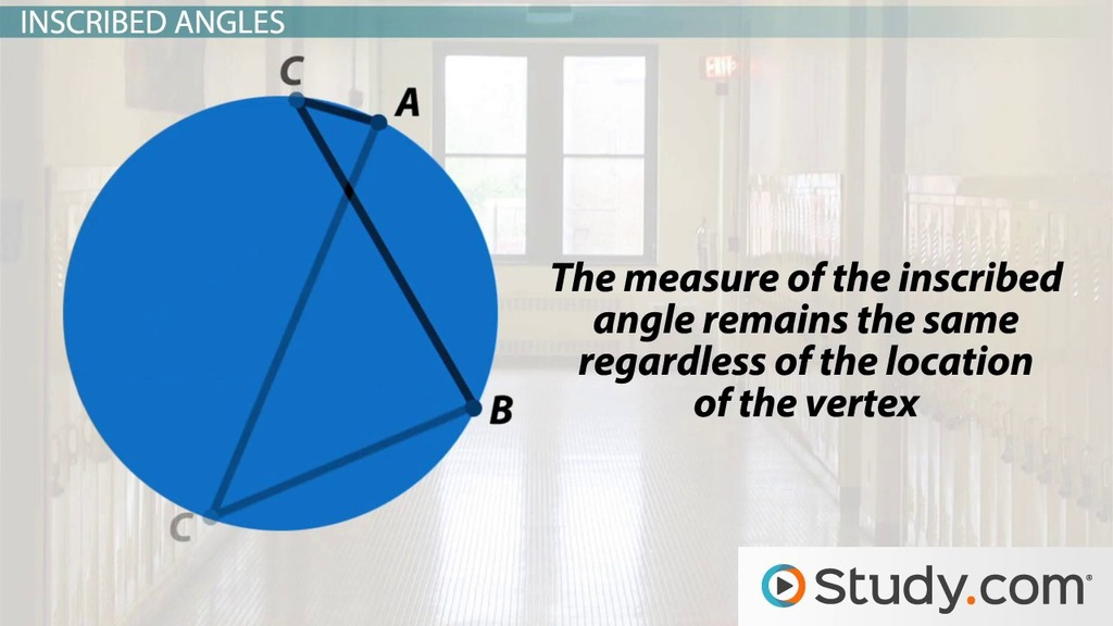 Central And Inscribed Angles Definitions And Examples Video