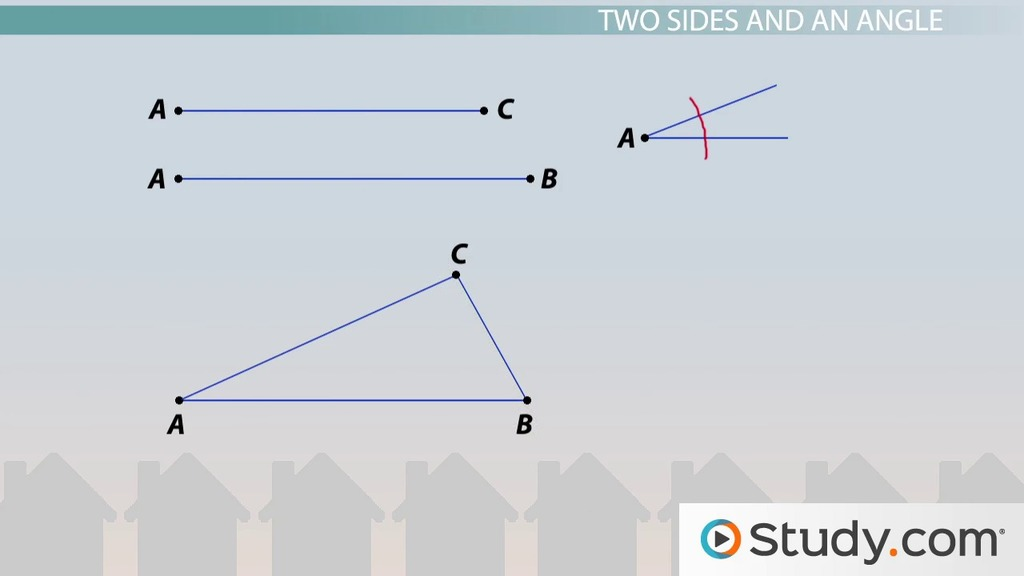 Constructing Triangles Types of Geometric Construction Video – Constructing Triangles Worksheet