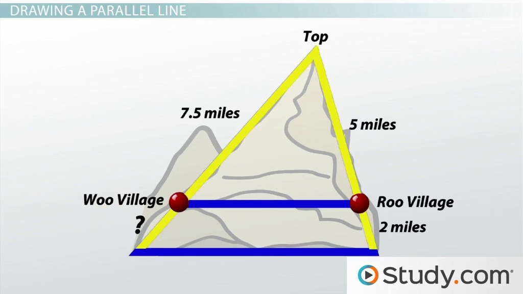 Triangle Proportionality Theorem Video Amp Lesson