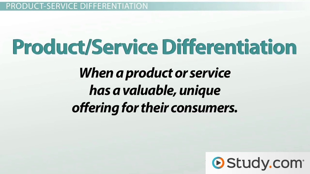 Types Of Competitive Advantage Cost Product Niche Sustainable Advantages Video Lesson