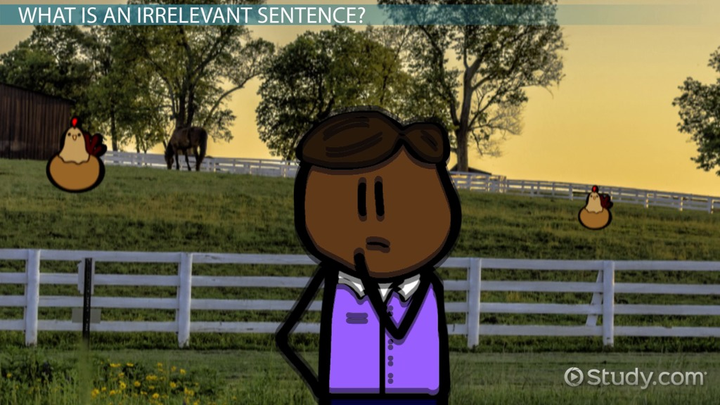 Identifying Irrelevant Sentences in a Passage  Video