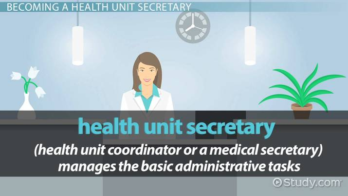 how to become a health unit secretary rh study com health unit coordinator certification study guide Health Unit Coordinator Cartoon