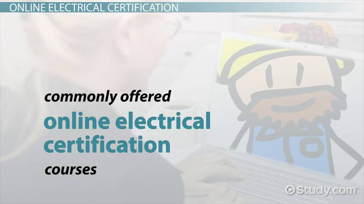 online electrical certification programs and courses