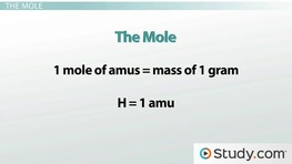 Avogadro's Number: Using the Mole to Count Atoms