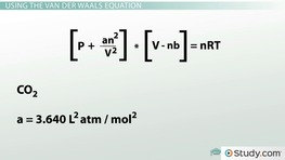 Real Gases: Using the Van der Waals Equation