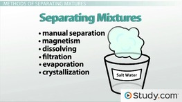 Chromatography, Distillation and Filtration: Methods of Separating Mixtures