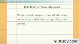 Thesis Development: Steps and Instructions