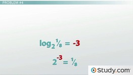 How to Evaluate Logarithms